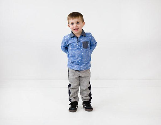 Oliver + S - Parachute Polo + Sweatpants Pattern in Small - The Village Haberdashery