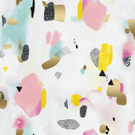 Pink Metallic Pastel Parade Cotton from Girl's Club by Piet en Kees for Cotton + Steel - The Village Haberdashery