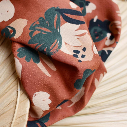 Chestnut Posie Viscose by Atelier Brunette - The Village Haberdashery