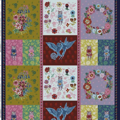 Give Me a Kiss Panel Cotton from Sunday in the Country by Nathalie Léte - The Village Haberdashery