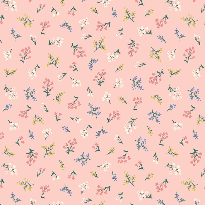 Blush Petites Fleurs Cotton from Strawberry Fields by Rifle Paper Co for Cotton + Steel - The Village Haberdashery