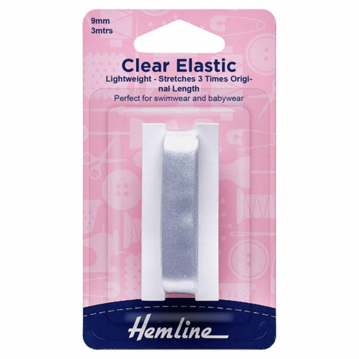Clear Elastic - 9mm - The Village Haberdashery