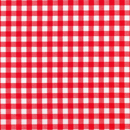 Red Gingham Cotton from Petite Basics - The Village Haberdashery