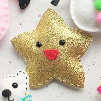 The Make Arcade Christmas Felt Ornament Sewing Kit - Sparkly Star - The Village Haberdashery