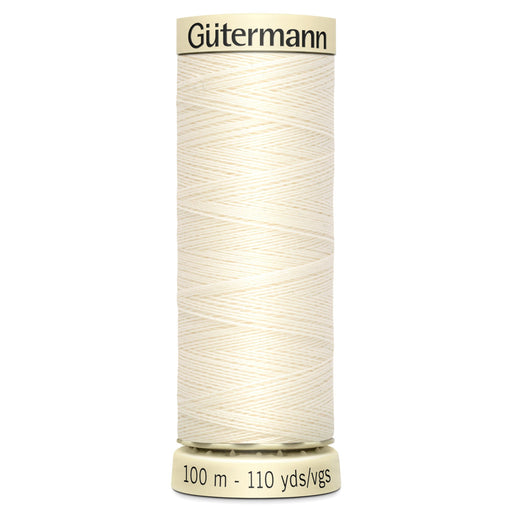 Gutermann Sew-All Polyester Thread - 001 - The Village Haberdashery
