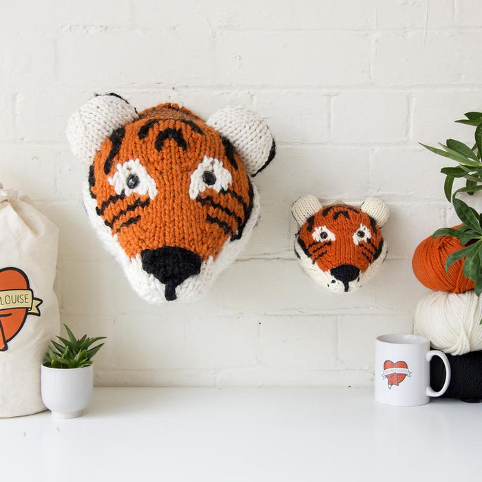 Sincerely Louise Mini Tiger Head Knitting Kit - The Village Haberdashery