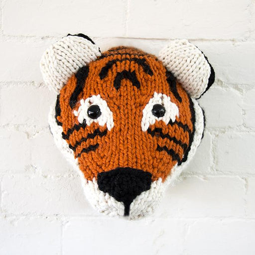Sincerely Louise Giant Tiger Trophy Head Knitting Kit - The Village Haberdashery