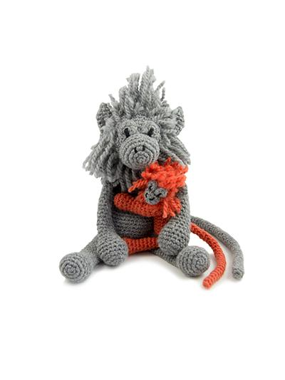 TOFT Crochet Amigurumi Kit: Charlotte the Silver Leaf Monkey and Baby - The Village Haberdashery