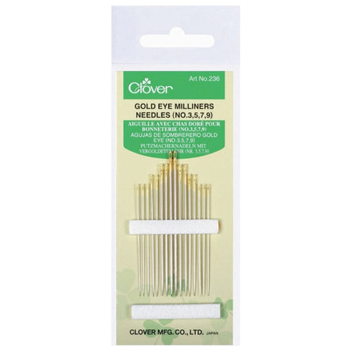 Clover Gold Eye Milliners Needles (No 3, 5, 7, 9) - The Village Haberdashery