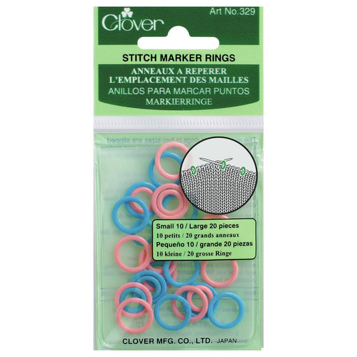 Clover Stitch Ring Markers - The Village Haberdashery