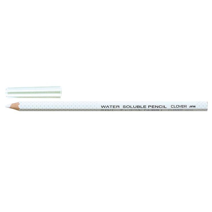Clover Water Soluble Pencil - White - The Village Haberdashery