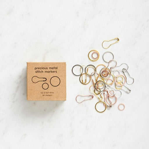 Precious Metal Stitch Markers by Cocoknits - The Village Haberdashery