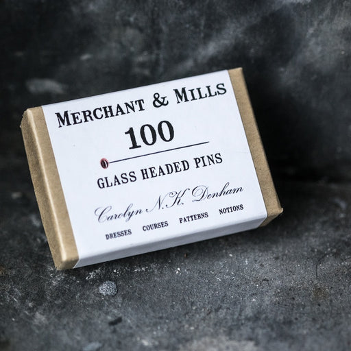 Merchant & Mills Glass Headed Pins - The Village Haberdashery
