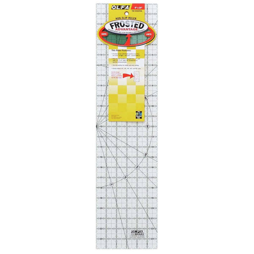 Olfa Non-Slip Quilting Ruler - 6 x 24 - The Village Haberdashery