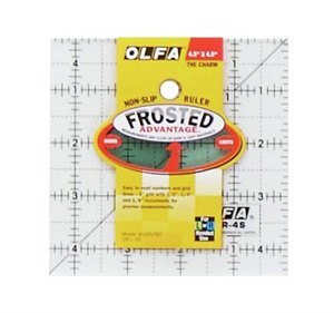 Olfa Square Quilting Ruler - 4.5 - The Village Haberdashery