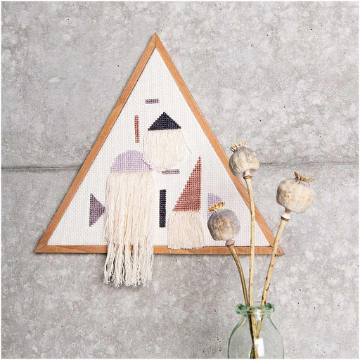 Geometric Triangle Embroidery Kit - The Village Haberdashery