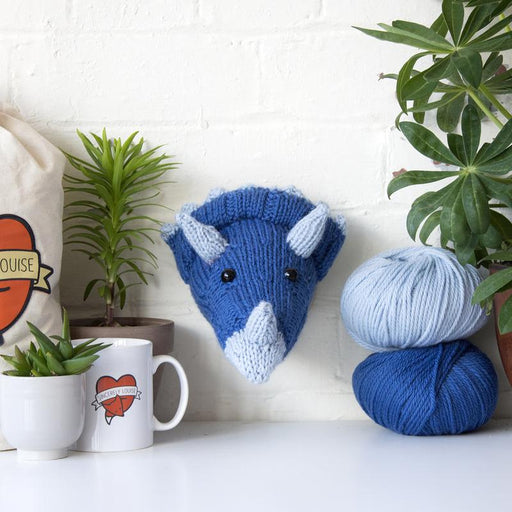 Sincerely Louise Mini Triceratops Head Knitting Kit - The Village Haberdashery