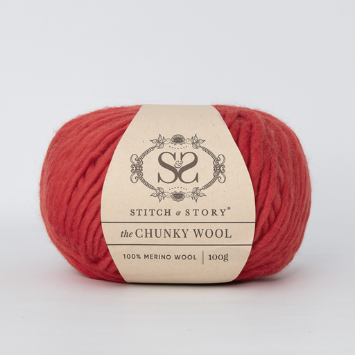 Stitch & Story The Chunky Wool - True Red - 22 - The Village Haberdashery