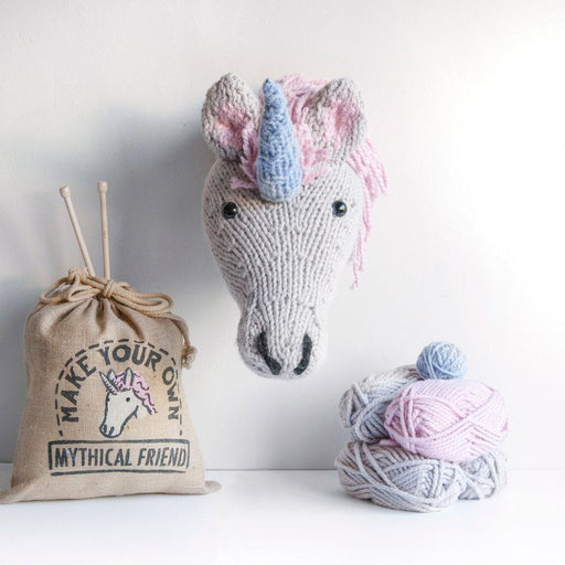 Sincerely Louise Faux Unicorn Trophy Head Knitting Kit - The Village Haberdashery