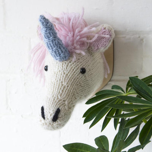 Sincerely Louise Mini Unicorn Head Knitting Kit - The Village Haberdashery