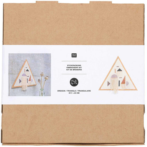 Triangle Embroidery Kit - Geometric - The Village Haberdashery