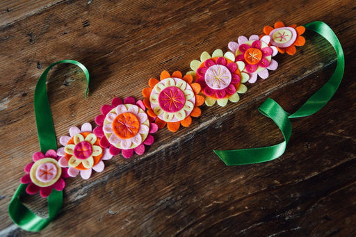 Felt Flower Belt - The Village Haberdashery