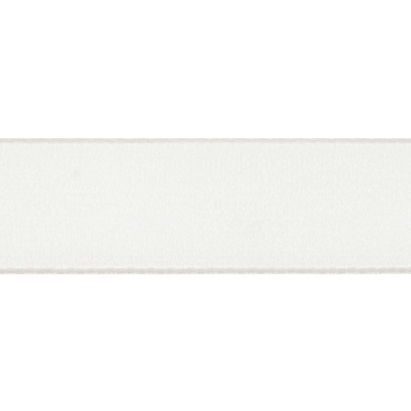 Velvet Ribbon - White - 16mm - The Village Haberdashery