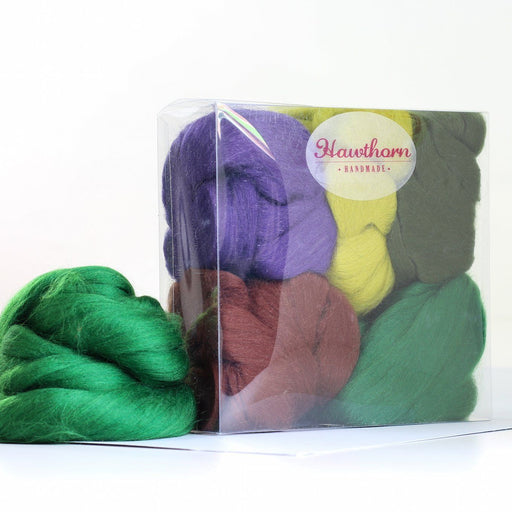 Felting & Spinning Wool - Woodland Merino Bundle - The Village Haberdashery
