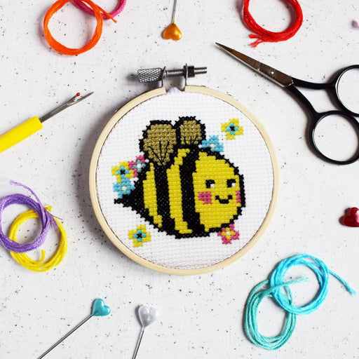 The Make Arcade Mini Cross Stitch Kit - Bella Bee - The Village Haberdashery
