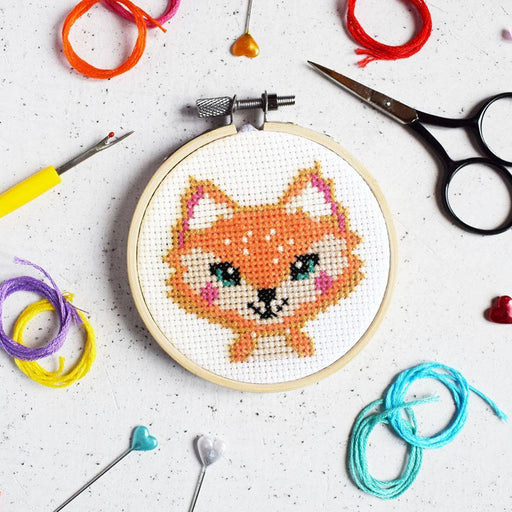 The Make Arcade Mini Cross Stitch Kit - Florence the Fox - The Village Haberdashery