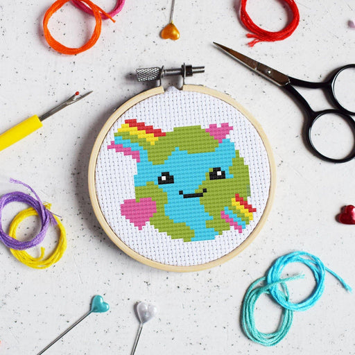 The Make Arcade Mini Cross Stitch Kit - Love the Planet - The Village Haberdashery