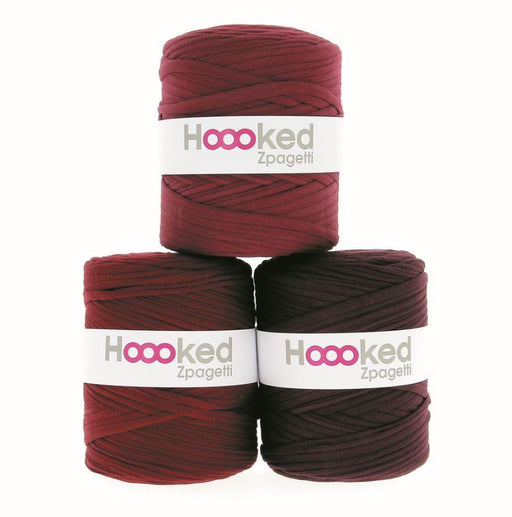 Hoooked Zpagetti T-Shirt Yarn - 120m Bobbins - Bordeaux Shades - The Village Haberdashery