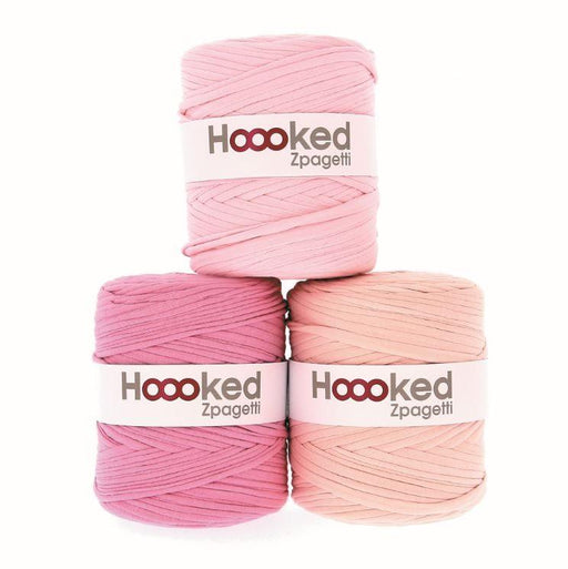 Hoooked Zpagetti T-Shirt Yarn - 120m Bobbins - Light Pink Shades - The Village Haberdashery