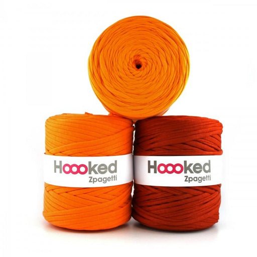Hoooked Zpagetti T-Shirt Yarn - 120m Bobbins - Orange Shades - The Village Haberdashery