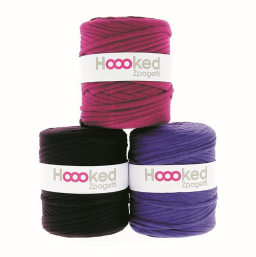 Hoooked Zpagetti T-Shirt Yarn - 120m Bobbins - Purple Shades - The Village Haberdashery