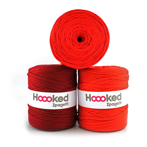 Hoooked Zpagetti T-Shirt Yarn - 120m Bobbins - Red Shades - The Village Haberdashery