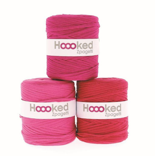Hoooked Zpagetti T-Shirt Yarn - 120m Bobbins - Super Pink Shades - The Village Haberdashery