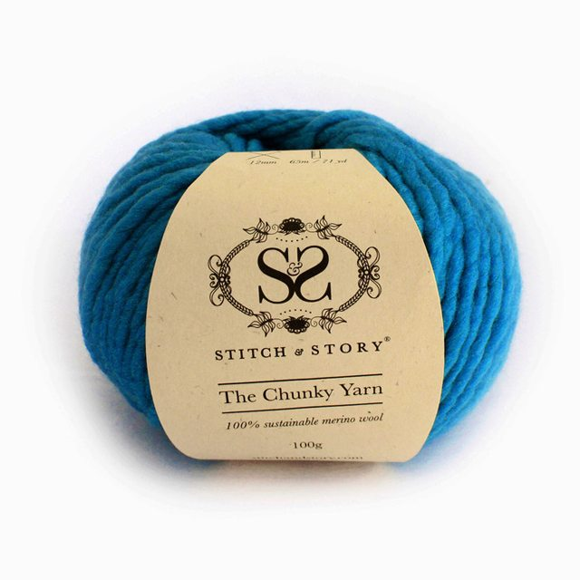 Stitch & Story The Chunky Wool - Deep Sea Blue - 12 - The Village Haberdashery
