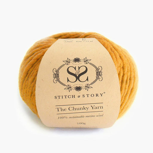 Stitch & Story The Chunky Wool - Mustard Yellow - 18 - The Village Haberdashery
