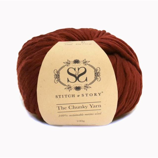 Stitch & Story The Chunky Wool - Sangria Red - 13 - The Village Haberdashery