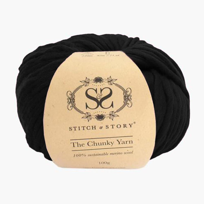 Stitch & Story The Chunky Wool - Star Black  - 16 - The Village Haberdashery
