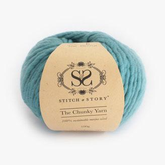 Stitch & Story The Chunky Wool - Stone Teal - 2 - The Village Haberdashery