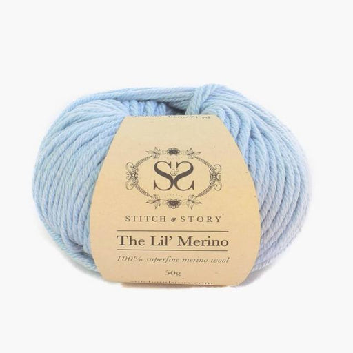 Stitch & Story The Lil' Merino Baby Wool - Baby Blue - 4 - The Village Haberdashery
