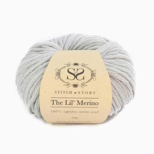 Stitch & Story The Lil' Merino Baby Wool - Dove Grey - 8 - The Village Haberdashery