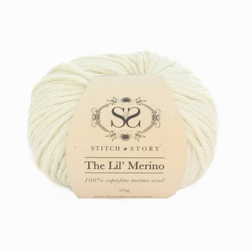 Stitch & Story The Lil' Merino Baby Wool - Natural White - 500 - The Village Haberdashery
