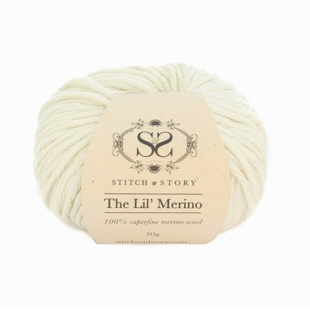 Stitch & Story The Lil' Merino Baby Wool - Natural White - 1 - The Village Haberdashery