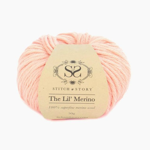 Stitch & Story The Lil' Merino Baby Wool - Peach Pink - 3 - The Village Haberdashery