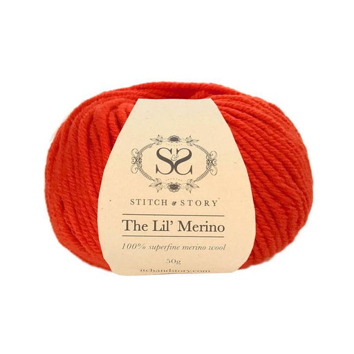 Stitch & Story The Lil' Merino Baby Wool - Poppy Red - 1104 - The Village Haberdashery