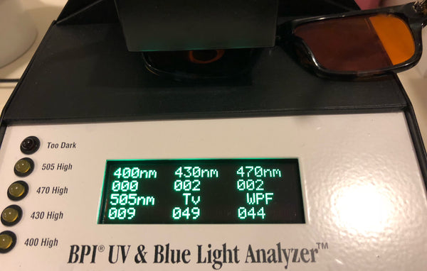 Blue Light Blocking Glasses-Sublime Blue Blockers-BPI Analyzer