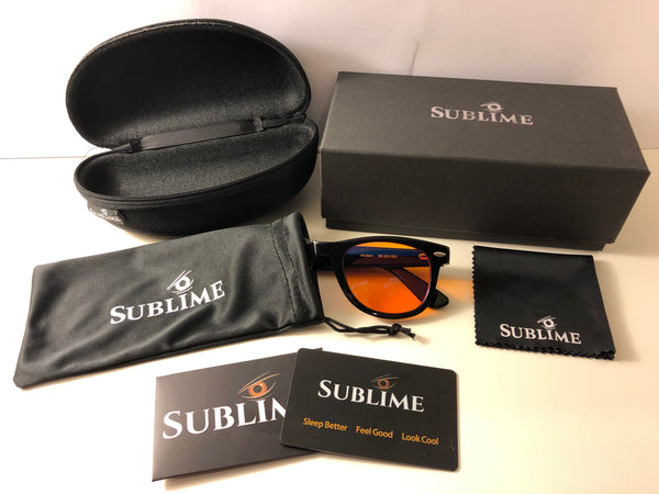 Blue Light Blocking Glasses-Sublime Blue Blockers-Sublime Wayfarer Details-Sublime Packaging Wayfarer